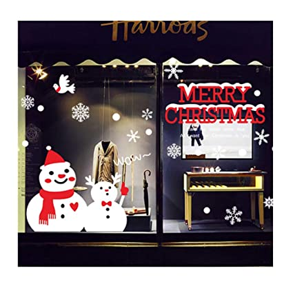 Easy Outdoor Christmas Decorations 2019.Amazon Com Midress 2019 Merry Christmas Window Glass Door