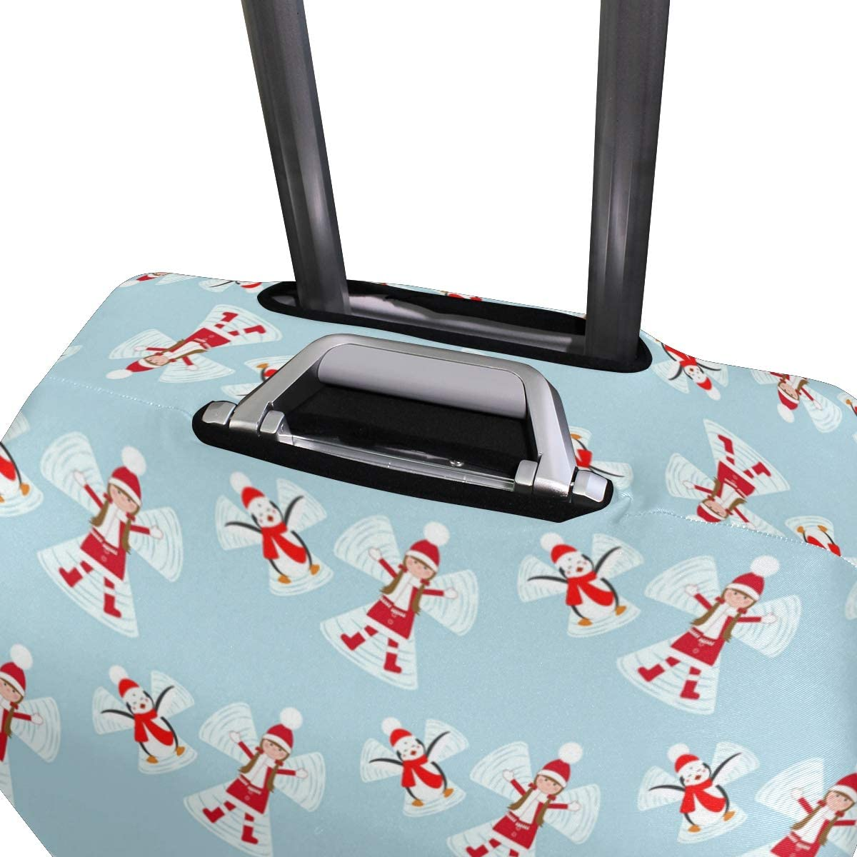 Colorful Funny Penguin Christmas Travel Luggage Protector Case Suitcase Protector For Man/&Woman Fits 18-32 Inch Luggage