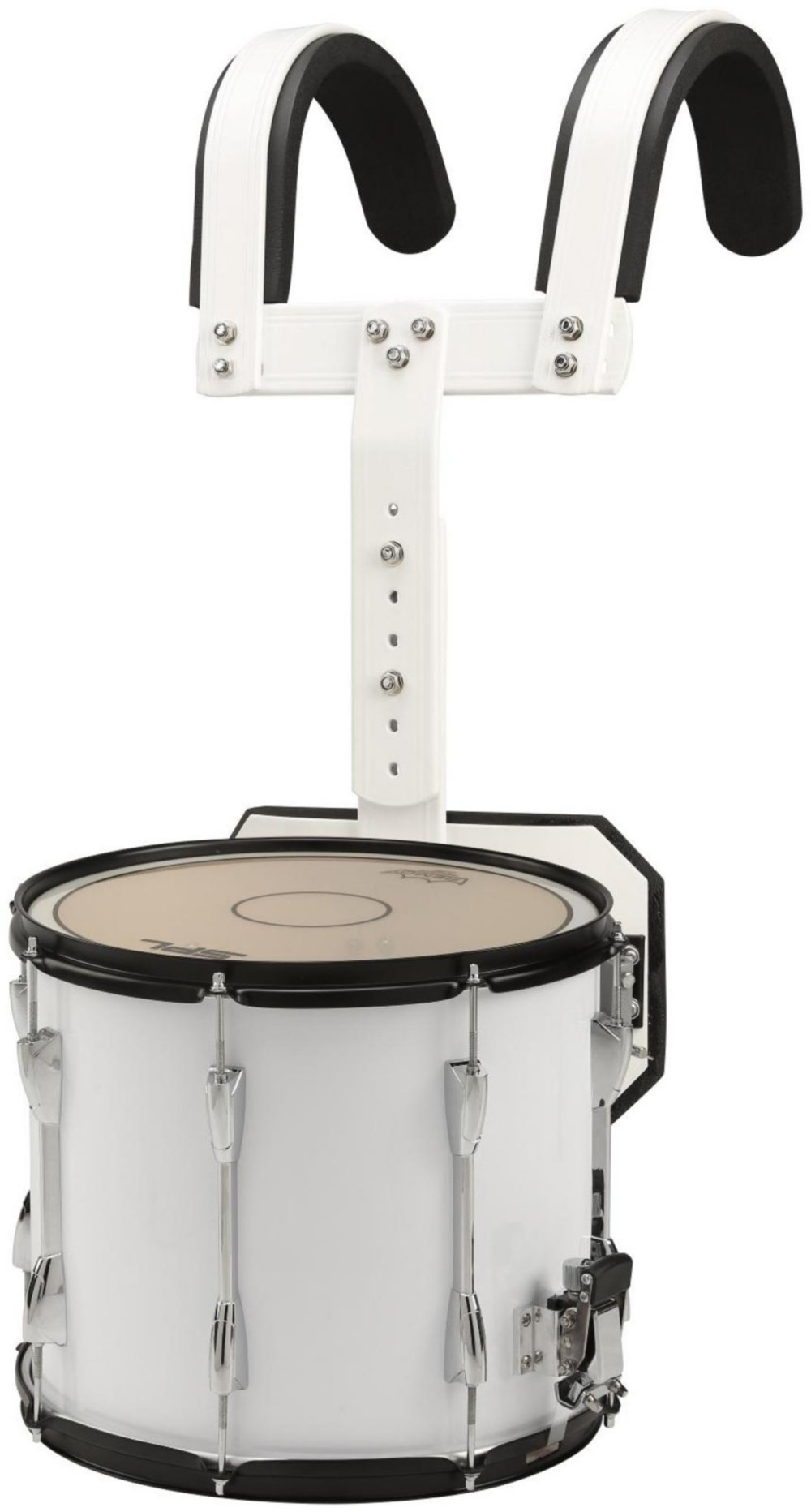 Sound Percussion Labs Marching Snare Drum with Carrier 14 x 12 White by Sound Percussion Labs