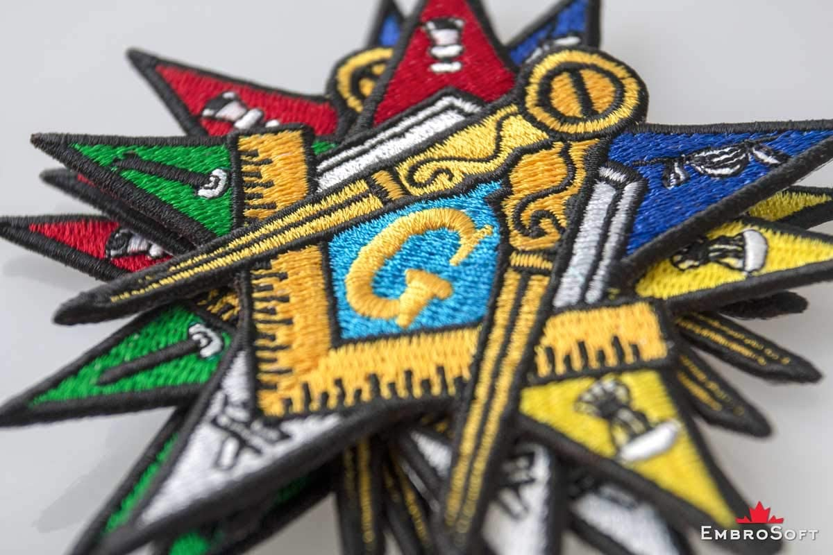 """OES Order Of Eastern Star Masonic Mini Iron-on Patch 1.25/"""""""