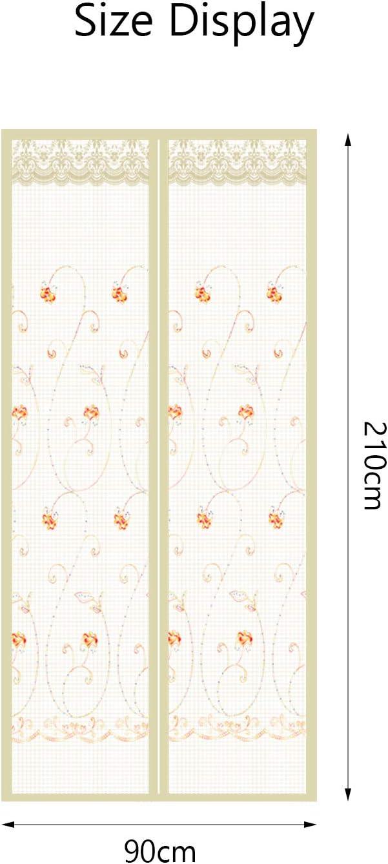 Matogle Moustiquaire Porte Magn/étique Rideau Anti-Mouche Aimant/é Transparent avec Motif Fleurs Garder Mouche Insectes Ext/érieur Convient /à Chambre Balcon Cuisine Jardin
