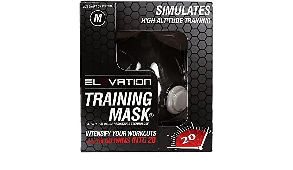 Máscara de elevación máscara formación 2,0 Fitness altitud máscara (70 kg - 120 kg) medio: Amazon.es: Deportes y aire libre