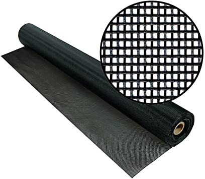 """BLACK INSECT SUPER SCREEN FROM TEXTILENE  PORCH POOL ENCLOSURE FABRIC 36/""""W BTY"""