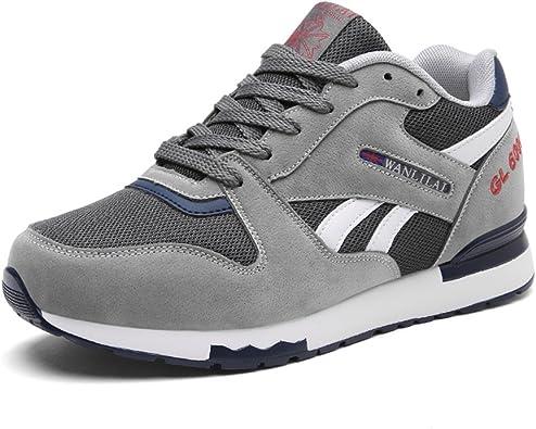 Running Shoes Obtener Fit Mens Mesh Running Zapatillas Athletic Walking Gym Shoes Sport Run Sneakers for Men (Color : Gris, tamaño : 42 2/3 EU): Amazon.es: Zapatos y complementos