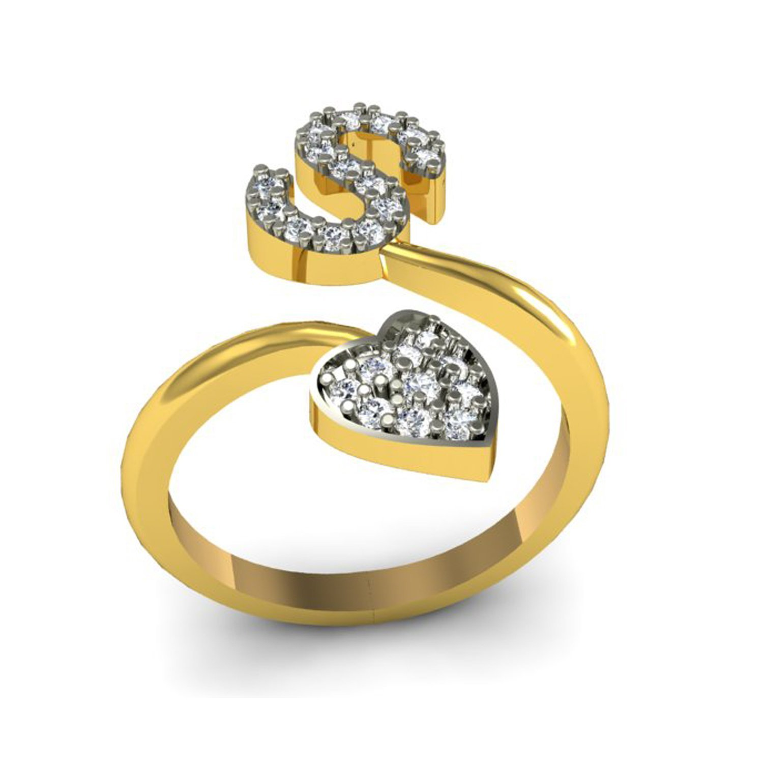 gold four splendour star jewellery links yellow gb ring london vermeil diamond amp women rings en mini of point for