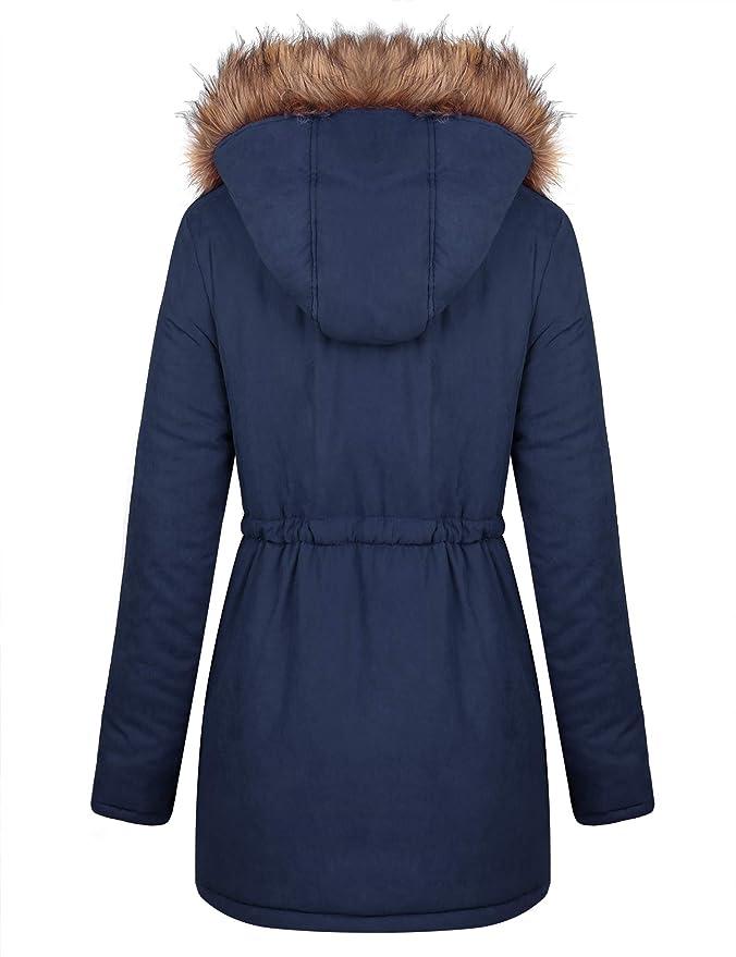 iClosam Cappotto Donna Lungo Cappotto Donna Invernale Cappotto Donna con Cappuccio
