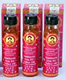 3 Bottles 100% NATURAL TRADITIONAL THAI YELLOW OIL 24 cc