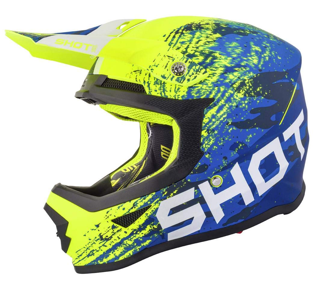 Shot Crosshelm Furious Counter Gr/ö/ße Xs Blau//Neongelb Mat