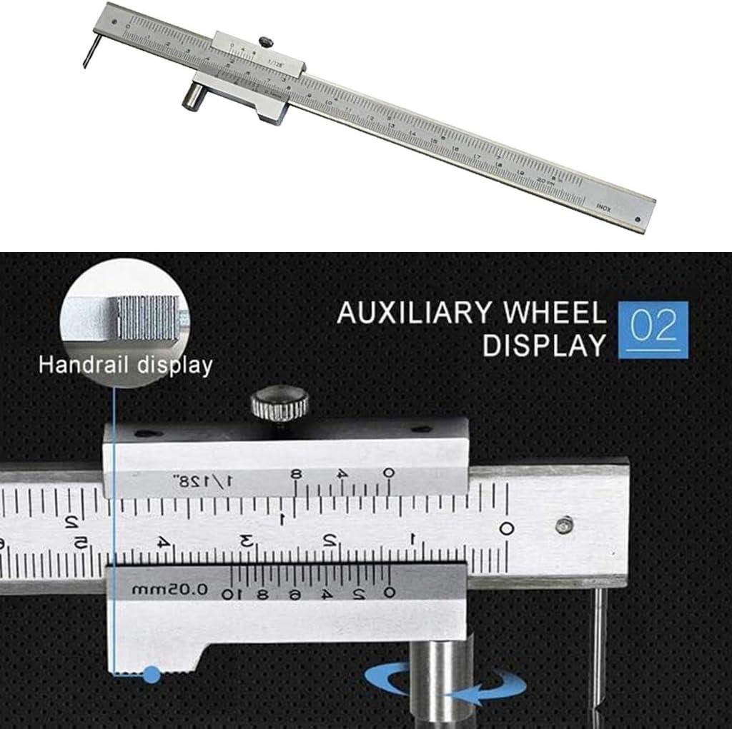 Y-POWER Pied /à coulisse de 0 /à 200 mm avec aiguille /à tracer en carbure de tungst/ène Outil de mesure