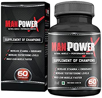 Buy Manpower X Testosterone Booster and Bodybuilding Supplement - 60 Capsules Online at Low