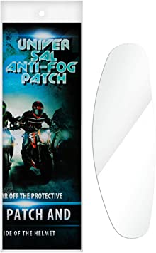 Universal Motorcycle Lens Anti Fog UV Film Clear Helmet Shield Visor Insert NEW