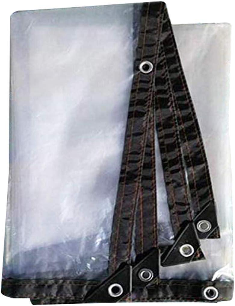 MFASD Lona Transparente con Ojales Bordes Reforzados, Lona de plástico Impermeable Rip-Stop, Lona para Jardines/Piscinas/tejados/Muebles,4x7m/12x21ft