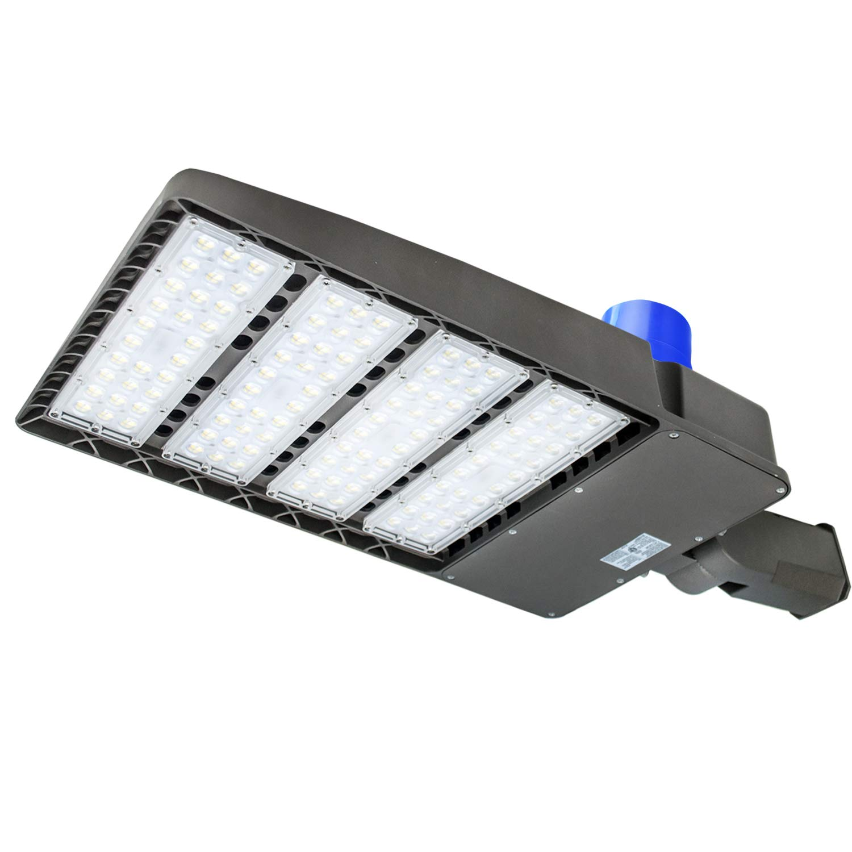 LED Parking Lot Lighting,with Dusk-to-Dawn Photocell Sensor,300W Waterproof LED Street Light,36000 Lumens,100-277V LED Shoebox Area Light,1000W HPS Equivalent (Slip Fit 300W)