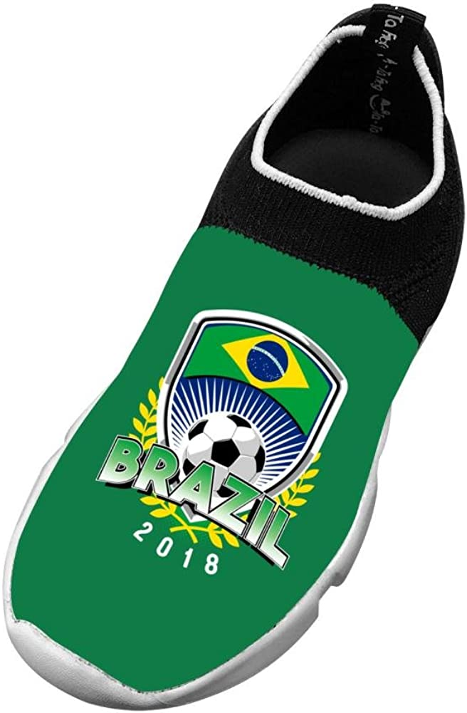 Sports Flywire Weaving Sports Shoes For Boy Girl Print Brazil 2018