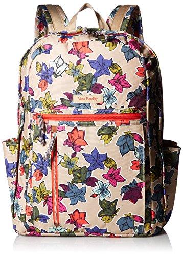 Vera Bradley Women's Lighten up Grand Backpack, Falling Flowers Neutral