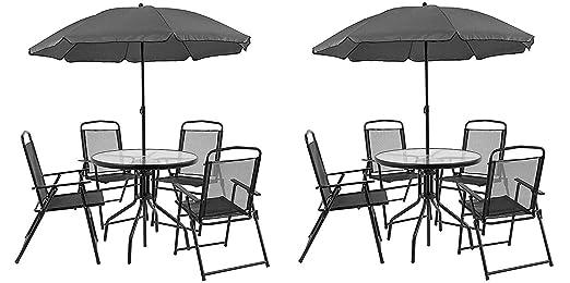 Flash Furniture Nantucket Juego de 6 Piezas para jardín con Mesa ...