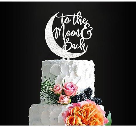 Decoración para tarta de boda con purpurina plateada ...