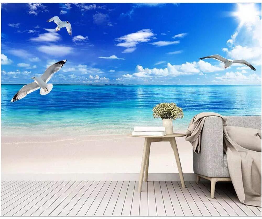 Amazon Co Jp Weaeo カスタム写真の3d壁紙ビーチの海の風景の背景