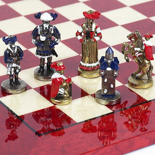 Via Roma Hand Painted Italian Chess (Imperial Hand Painted Metal)