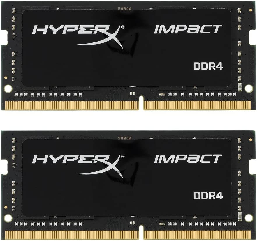 Kingston Technology HyperX Impact 32GB Kit (2x16GB) 2400MHz DDR4 CL14 260-Pin SODIMM Laptop HX424S14IBK2/32