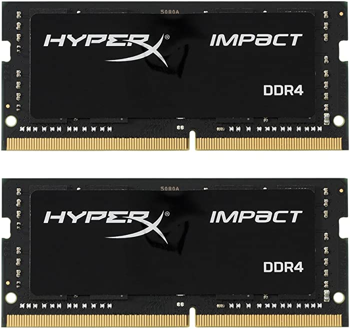 HyperX Kingston Technology Impact 32GB Kit (2x16GB) 2400MHz DDR4 CL14 260-Pin SODIMM Laptop HX424S14IBK2/32