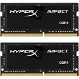 Kingston HX421S13IBK2/16 16Gb Kit 2X8Gb DDR 4 Pc 2133 Hyperx Impact Processore, Nero