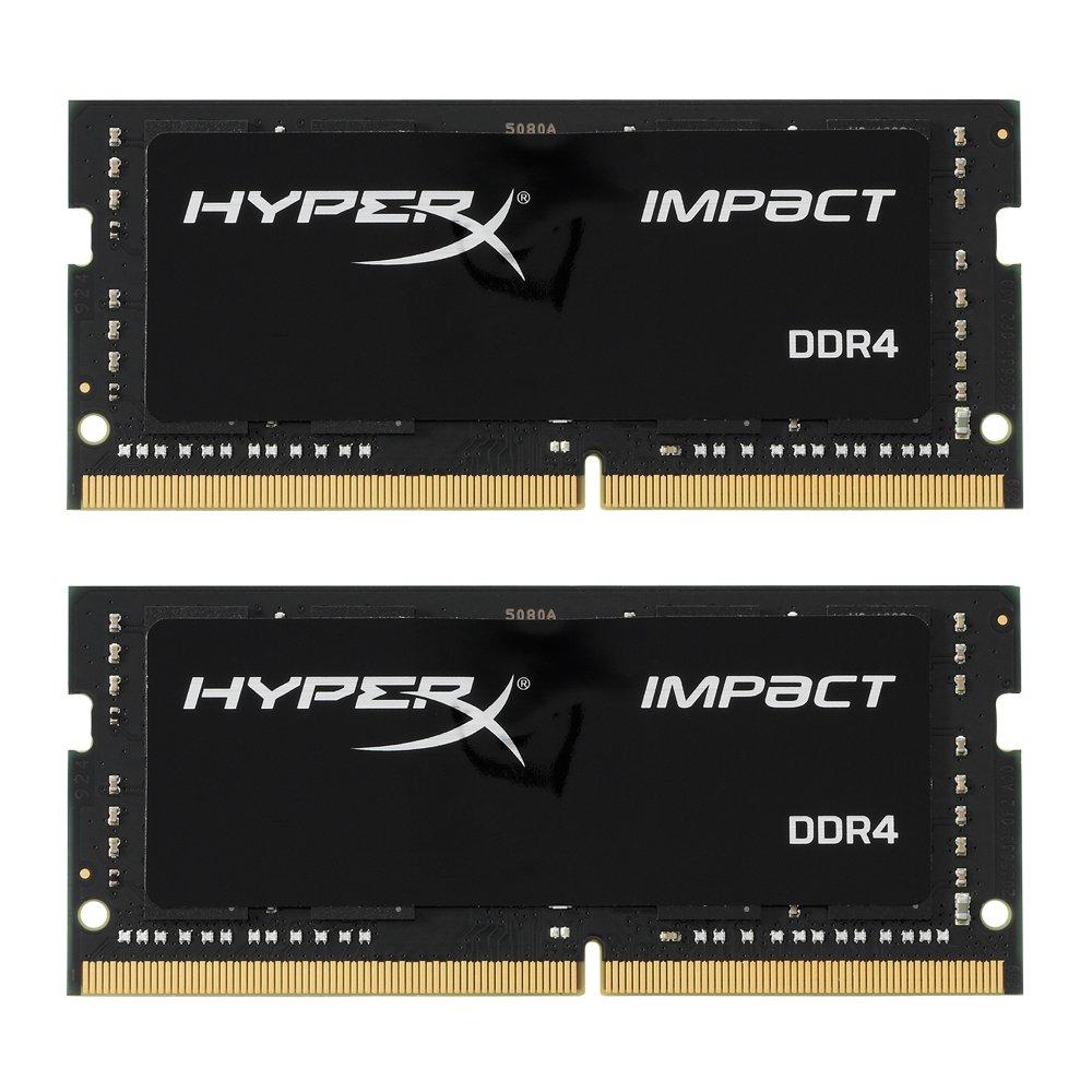 HyperX Kingston Technology Impact 32GB Kit (2x16GB) 2400MHz DDR4 CL14 260-Pin SODIMM Laptop HX424S14IBK2/32 by HyperX