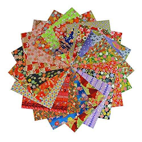 Yuzen Washi Origami Paper 15x15cm Japanese Chiyogami Assortment (60 Sheets)