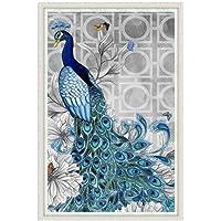 iDream Home Decoration 5D Diamond Painting Rhinestone Peacock (Right) DIY Mosaic Wall Decor (45cm x 32cm)