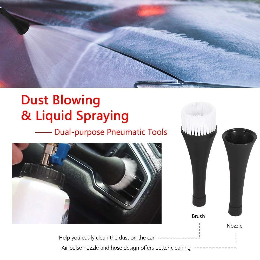 1L Car Cleaning Gun Tornado Foamaster Washing Cleaner Kit with 2 Set Nozzle Sprayer Connector by Cretee (Image #5)
