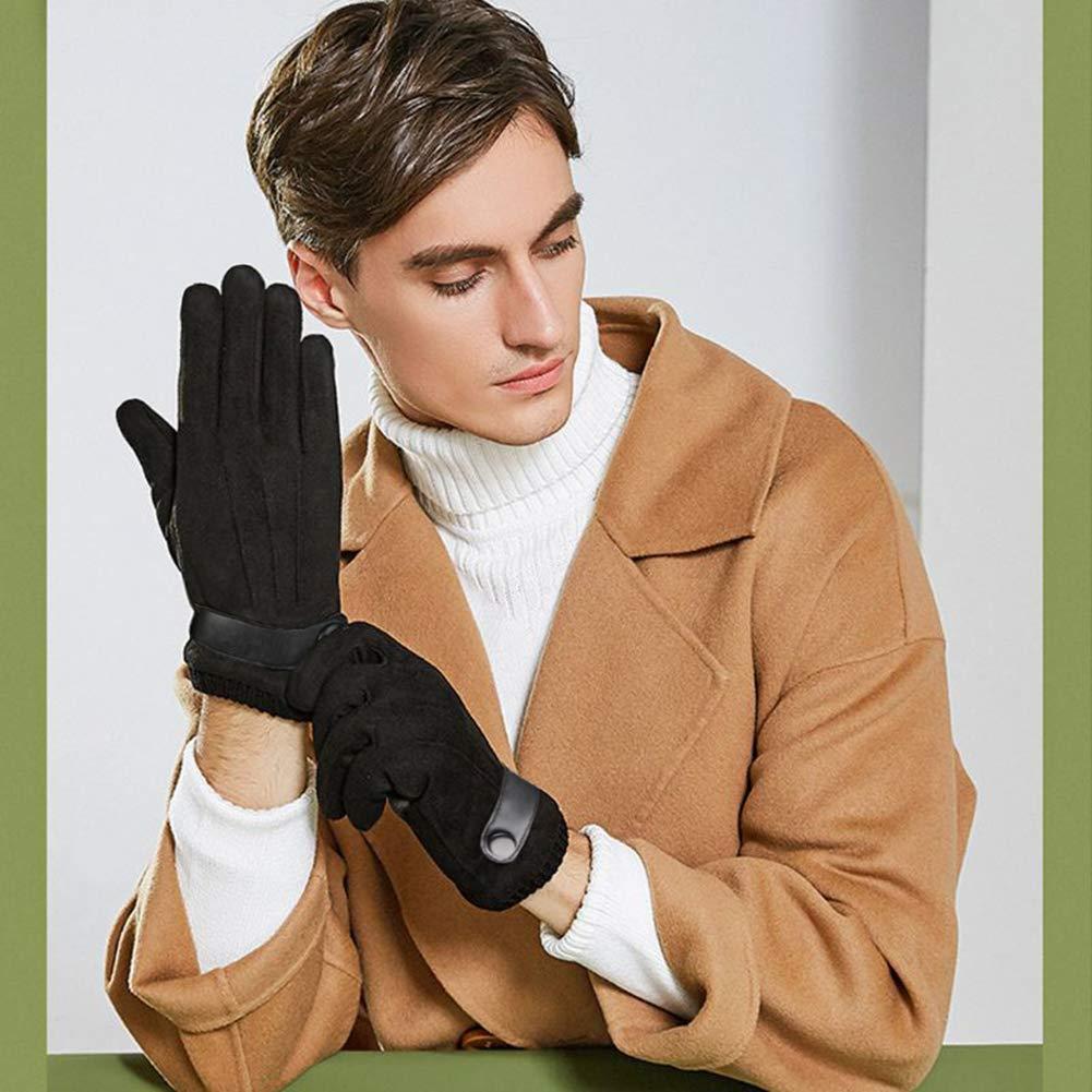 Herren Winter Handschuhe Wildleder Dick Warm Vlies Winddicht K/älteschutz Sanft Thermal F/äustlinge Anti-Rutsch Touchscreen f/ür Outdoor Camping Fahren Gehen Wande