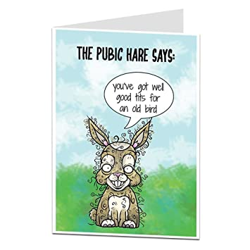 Image of: Wishes Funny Birthday Card For Her Women Rude Message Perfect For Best Friends Blank Inside To Add Your Own Personal 40th Or 50th Greeting Amazoncouk Office Amazon Uk Funny Birthday Card For Her Women Rude Message Perfect For Best