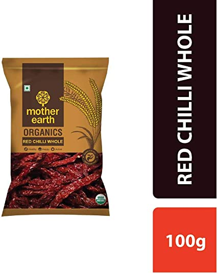 MOTHER EARTH RED Chilli Whole 100G