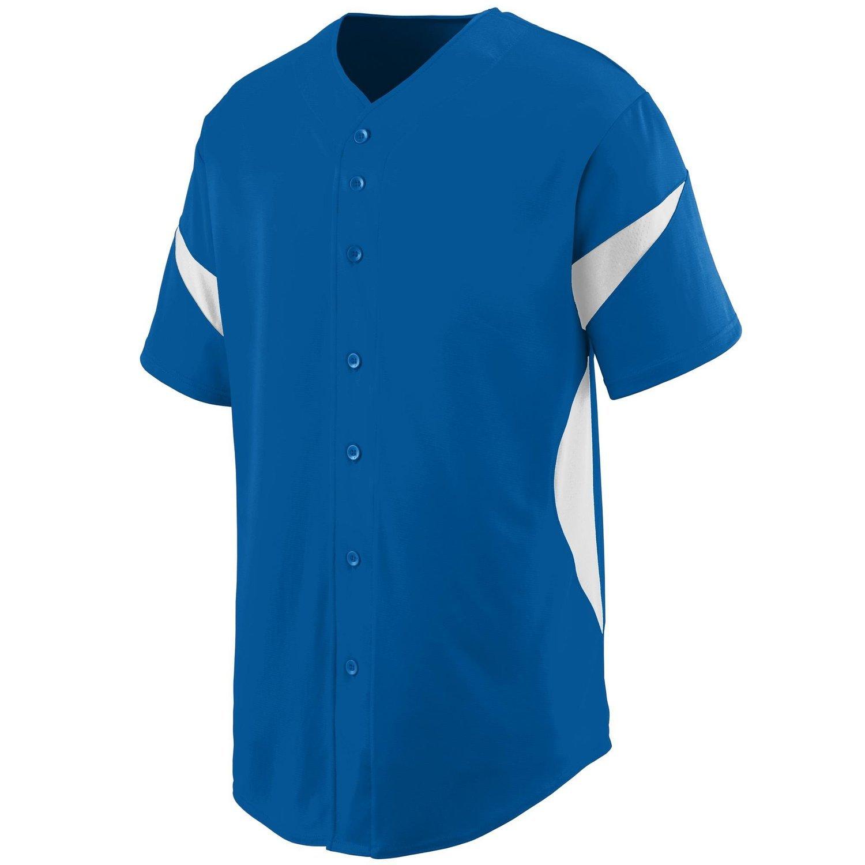 Augusta SportswearメンズホイールHouse Baseball Jersey B00P53SYXW Small ロイヤル/ホワイト ロイヤル/ホワイト Small