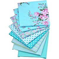 ShuanShuo Blue Series Cotton Fabric Quilting Patchwork Fabric Fat Quarter Bundles Fabric for Sewing DIY Crafts Handmade…