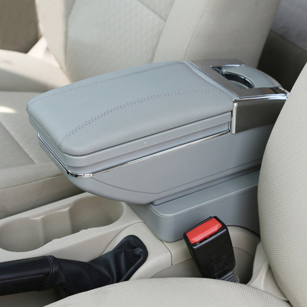 Car Armrest Box Arm Rest Gray For Honda CR-Z CRZ Car Storage Box Console Organizer Maiqiken