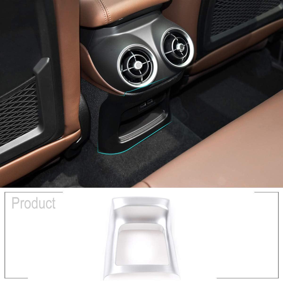TongSheng for Alfa Romeo Stelvio 2017-2018 ABS Matt Silver Car Accessories Rear Exhaust Vent Decorative Frame Car Accessories