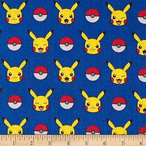 Poke'mon Stripe Royal Fabric by The Yard