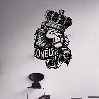 Lion King Wall Art Decal Lion Zion One Love Bob Marley Reggae King Wall Art Sticker Music Star Wall Decal Kids Boys Bedroom Rock Steady Music Mural: Home & Kitchen