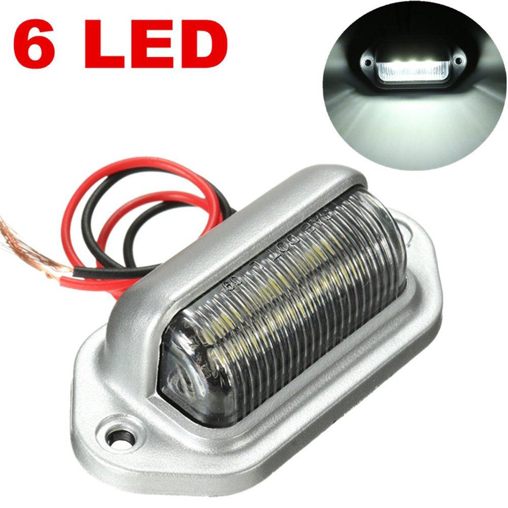 Calistouk Feu Plaque Lampe 6/LED 12/V Bateau feux d/'Immatriculation Ampoule /Étanche pour V/éhicule Camion Camionnette Remorque Voiture Caravane