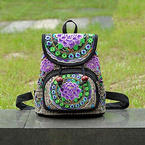 bolso de hombro de la flor bordada / paquete de ocio sencilla femenina ( Color : 17# ) 5#