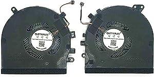 QUETTERLEE Replacement New CPU and GPU Cooling Fan for Razer Spirit Blade 15 GTX 1060 RZ09-027 RZ09-0270 RZ09-03009E97 RZ09-0300 Series DFS501105PR0T FM5D and DFS5K121142621 FLK7 Fan