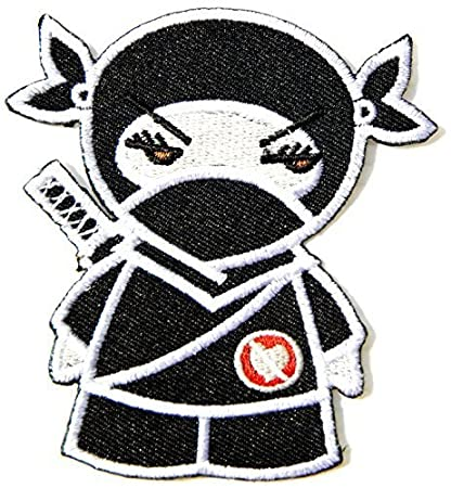 Japanese Ninja Samurai Sword Cartoon Kid Jacket T-shirt Patch Iron on Embroidered Sign Badge Costume