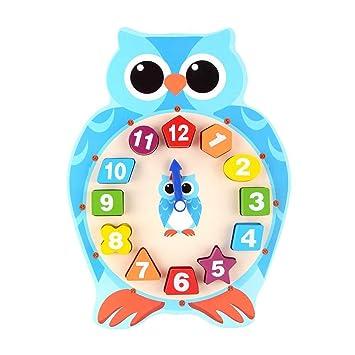Inciple 2019 Innovación Dibujos animados Animal Reloj digital Elegante Reloj digital Madera Divertido lindo Puzzle Juguetes educativos para niños de 3-6 ...