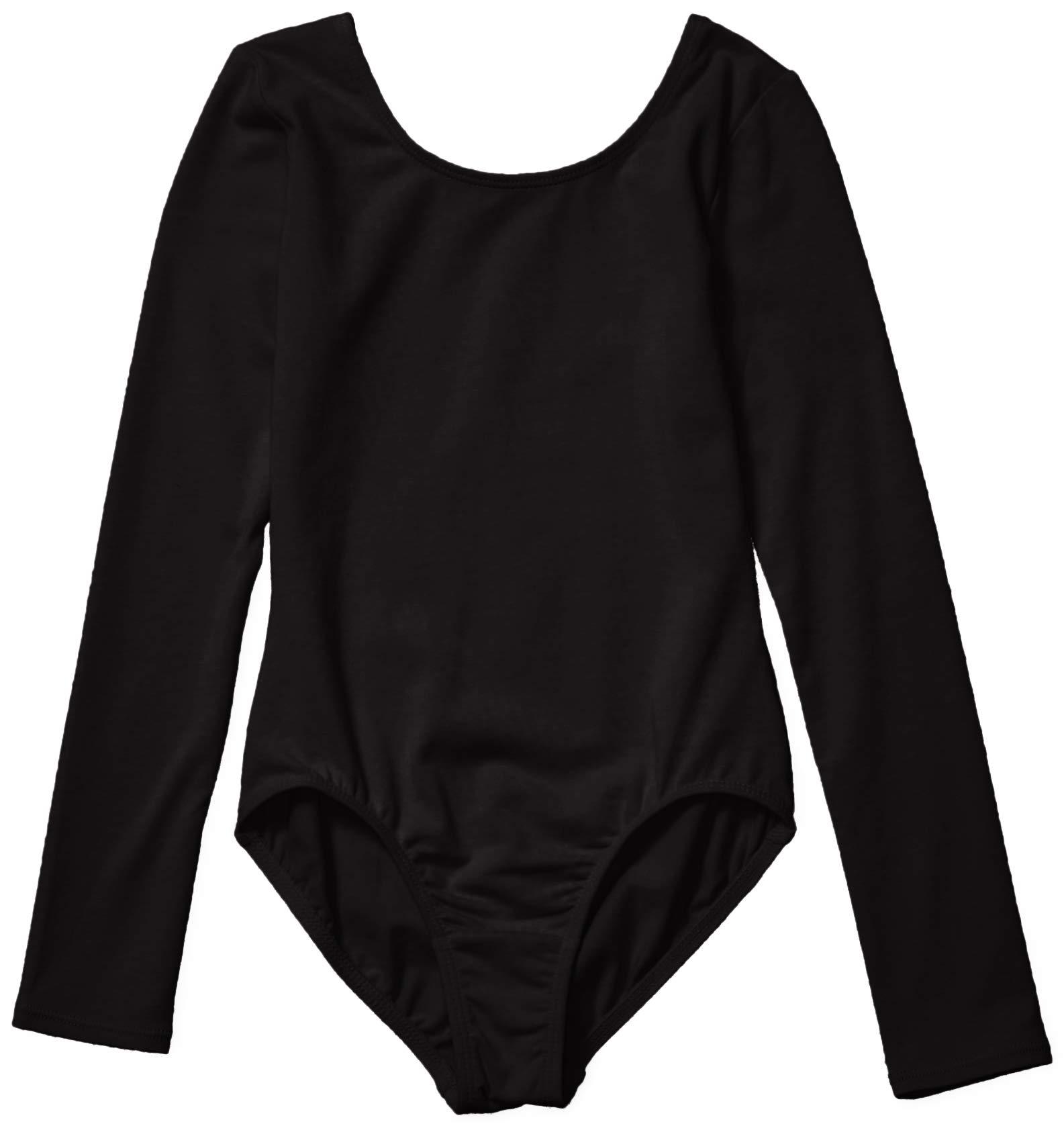 Amazon Essentials Girls Long Sleeve Dance Leotard Black Small