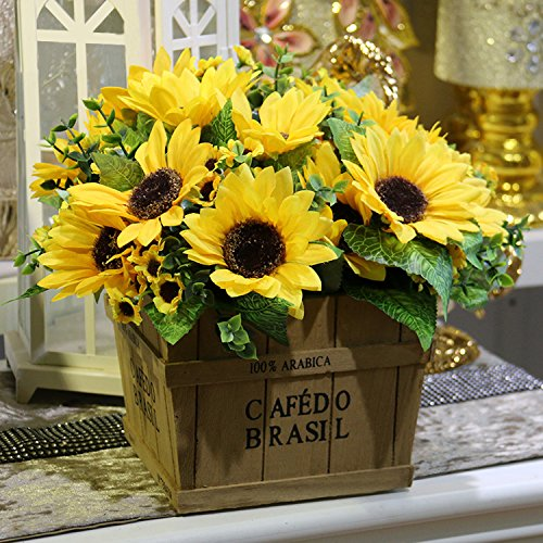 bilipala artificial sunflower flowers bouquet for home decoration - Silk Arrangements For Home Decor 2