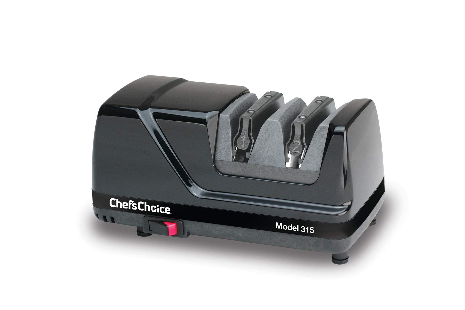 Chef'sChoice 315 XV Versatile Professional Diamond Hone Electric Knife Sharpener for Straight edge or Serrated knives 15 and 20 Degree Class, 2-Stage, Black by Chef'sChoice (Image #2)