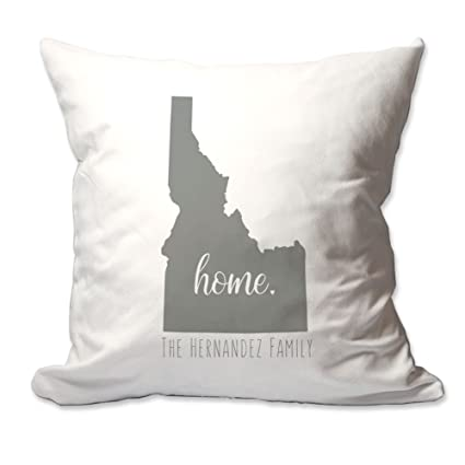 Amazon.com: Personalizado Estado de Idaho Home Throw Pillow ...