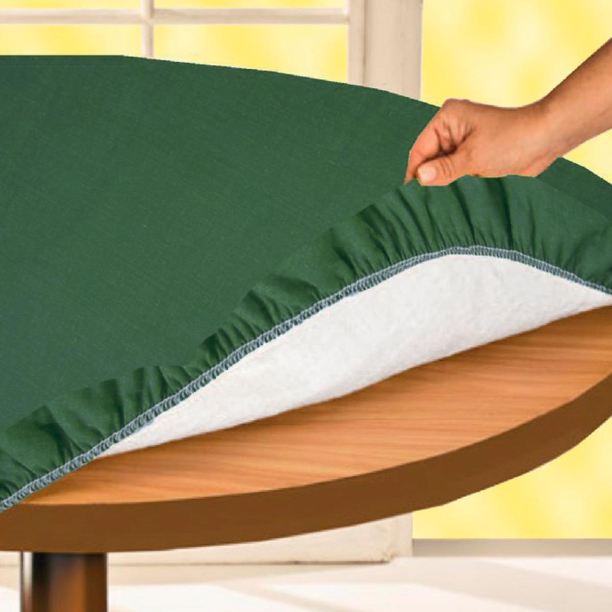 Proteggitavolo Rotondo con feltro e elastico Verde - diametro 140 cm N709 Carillo