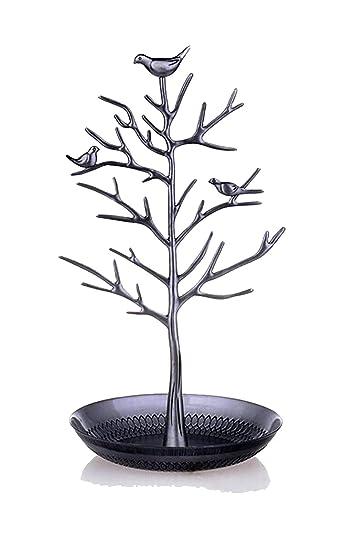 "/""Vögel auf Baum/""Schmuckständer Schmuckhalter Schmuckdisplay Metall"